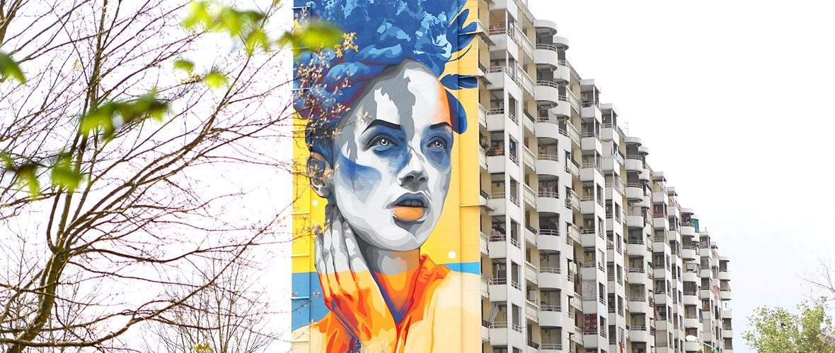 Street-art: la beauté universelle de Dourone aux Coteaux | M+ Mulhouse