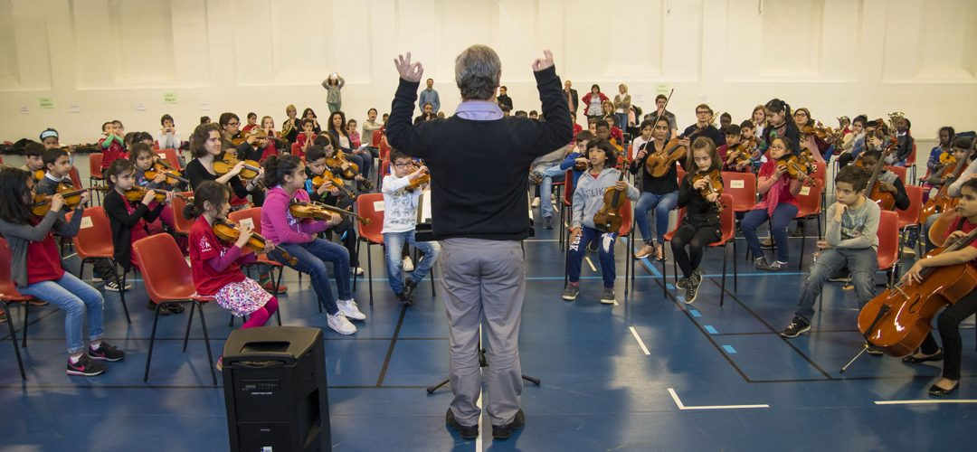 Démos : 120 enfants vivent leur première expérience d'orchestre | M+ Mulhouse