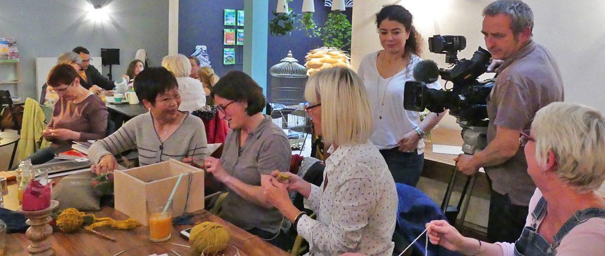 L'atelier tricot de Mulhouse bientôt au journal télévisé de France 2 | M+ Mulhouse
