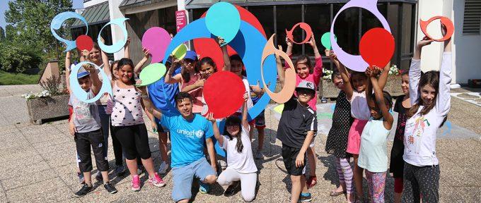 Une journée peinture et solidarité avec l'Unicef