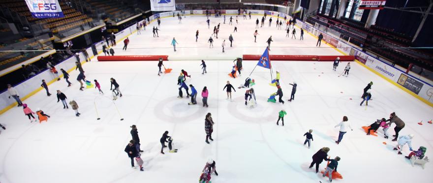Animation famille à la patinoire