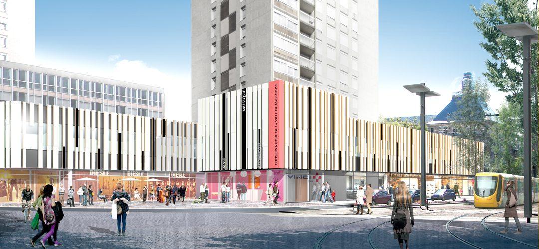 Nouveau Conservatoire : quel chantier ! | M+ Mulhouse