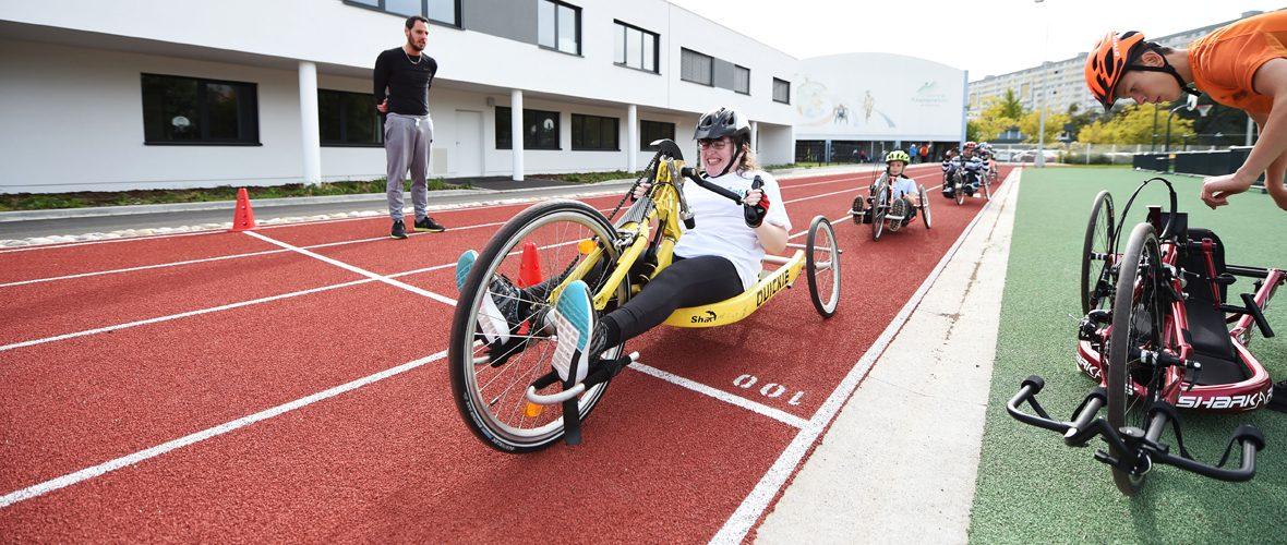Handicap : une séance à l'école du sport de Mulhouse   M+ Mulhouse