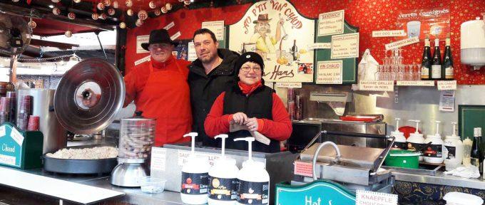 Marché de Noël: du côté des chalets des commerçants