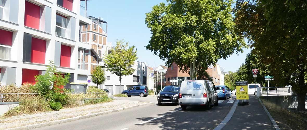 Voie Sud : modification du régime de priorité en test à la Fonderie | M+ Mulhouse