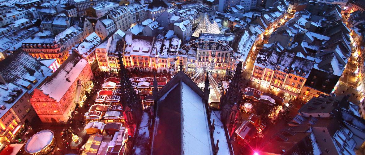 Le marché de Noël de Mulhouse se prépare   M+ Mulhouse