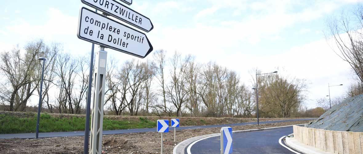 Désenclavement de Bourtzwiller : la nouvelle bretelle d'accès au quartier est ouverte   M+ Mulhouse