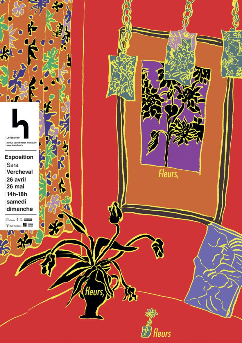 "Exposition de Sara Vercheval ""Fleurs, fleurs, fleurs"""
