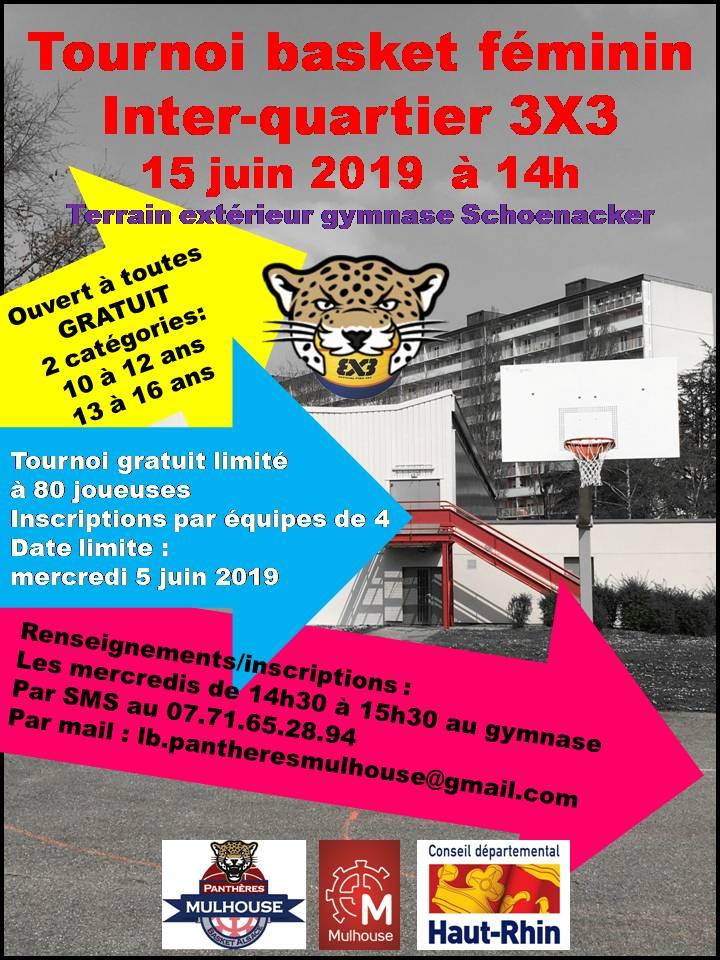 Tournoi 3X3 basket féminin inter-quartier