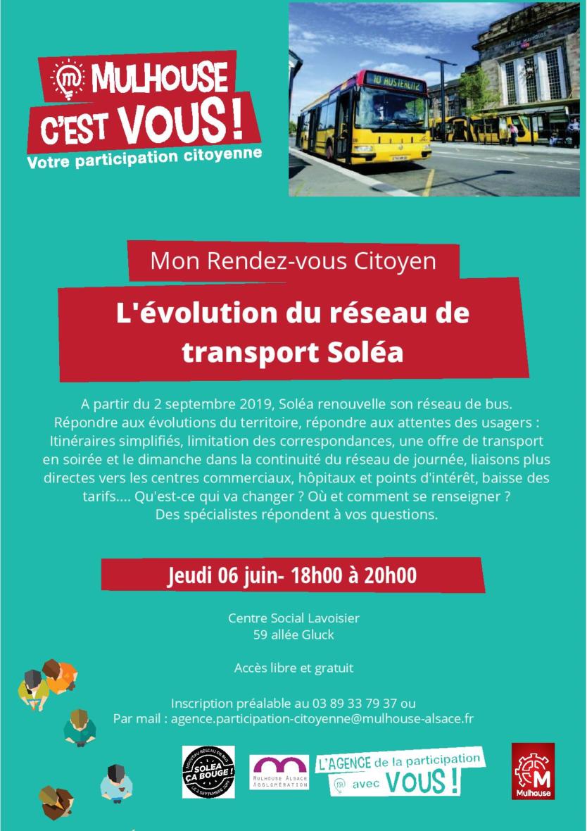 RDV Citoyen : L'évolution du réseau de transport Soléa