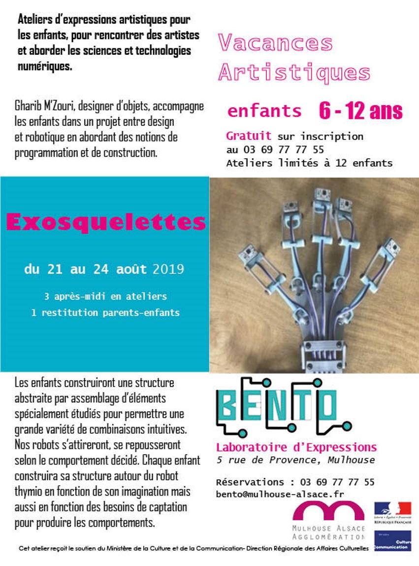 Vacances artistiques au Bento, laboratoire d'expressions