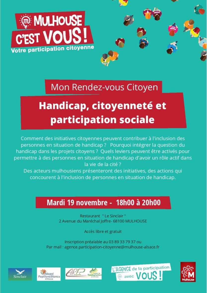 RDV Citoyen : handicap, citoyenneté et participation sociale