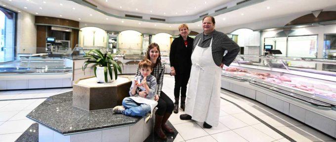 Famille Habegger: une nouvelle boucherie-charcuterie, rue de Bâle