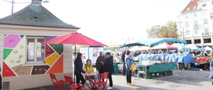 Une Maisonnette «Mulhouse c'est vous» au marché