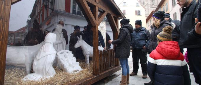 Marché de Noël: une nouvelle crèche réalisée par les ateliers municipaux