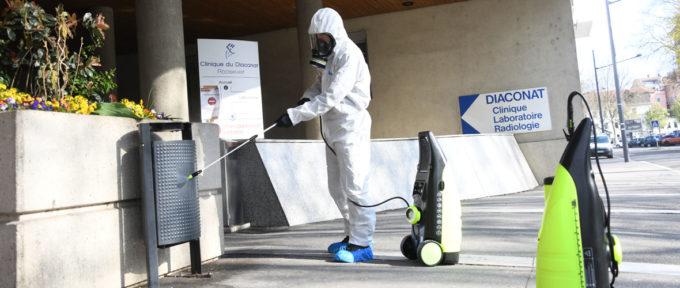 La désinfection de l'espace public démarre ce vendredi à Mulhouse
