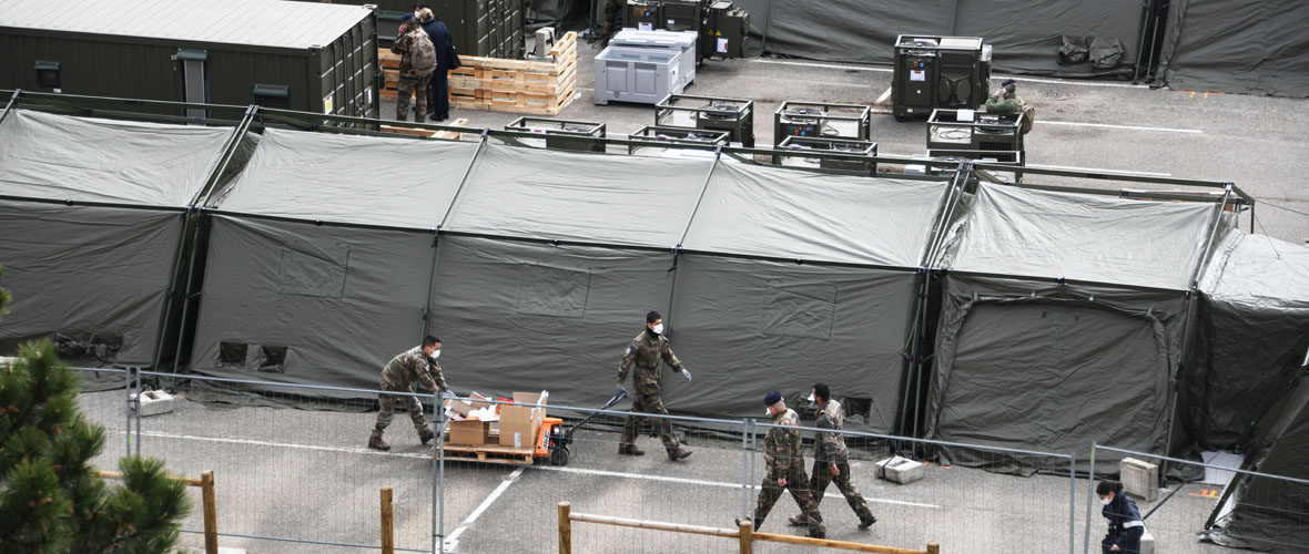 Covid-19 : L'hôpital militaire de campagne s'en va mais la vigilance reste de mise | M+ Mulhouse