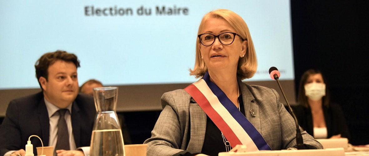 Michèle Lutz retrouve l'écharpe tricolore | M+ Mulhouse