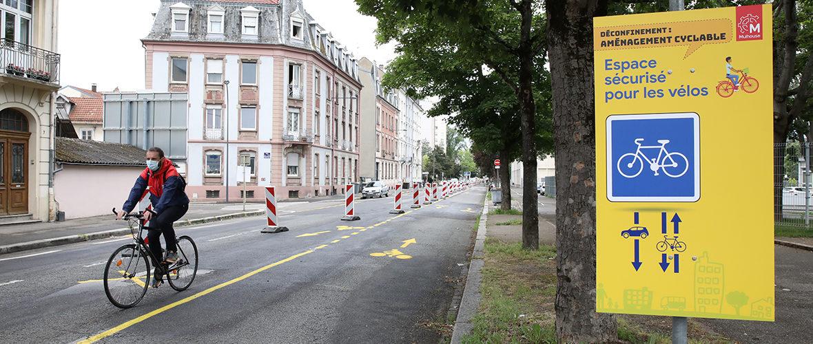 Aménagements cyclables: l'expérimentation se poursuit | M+ Mulhouse