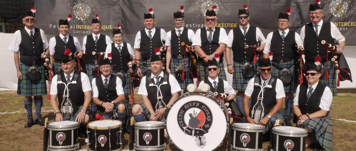 Les Celtic Ried's Pipers pour les soignants de l'Hôpital du Moenschberg