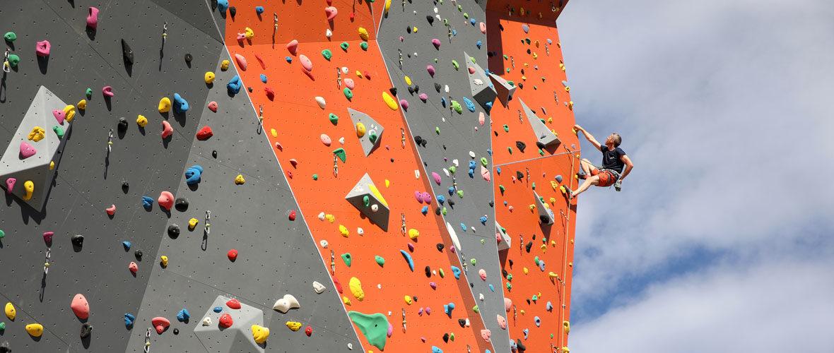 La salle d'escalade la plus haute de France a ouvert ses portes à Mulhouse | M+ Mulhouse