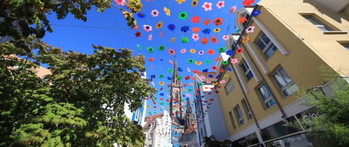 Ciel de fleurs sur la Cour des Maréchaux