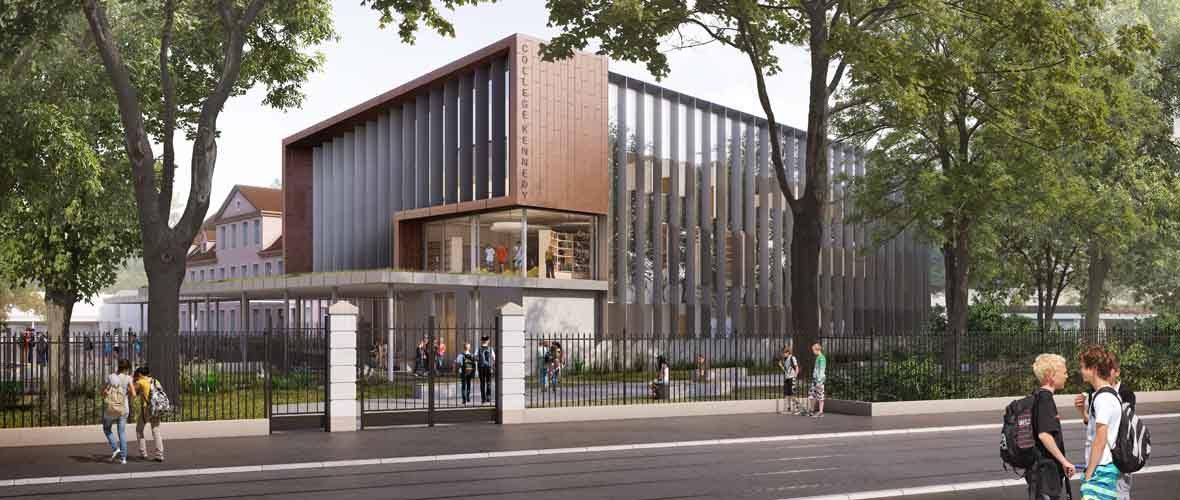 Rentrée des collèges: l'extension-restructuration du Kennedy donne le ton | M+ Mulhouse