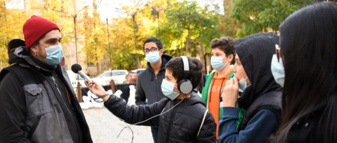 Les petits reporters du Drouot en immersion à Scènes de rue
