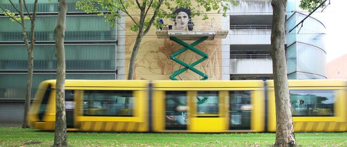Kinepolis: un chef d'œuvre de Bouguereau en format XXL par le street-artiste Andrea Ravo Mattoni