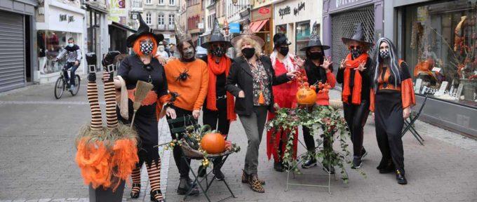 Commerçant(e)s des Zenriettes: une déco d'Halloween pour résister au Covid-19