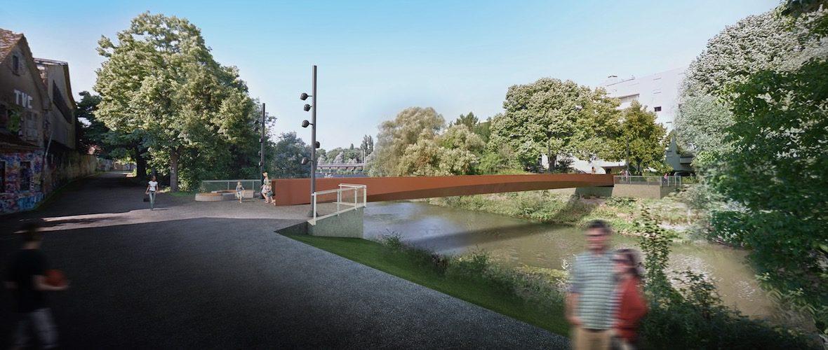 Mulhouse Diagonales : une nouvelle passerelle sur l'Ill, d'ici l'été | M+ Mulhouse