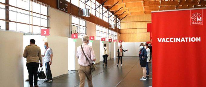 Nouveau centre de vaccinationde Mulhouse : le cap des 10000 vaccinés par semaine