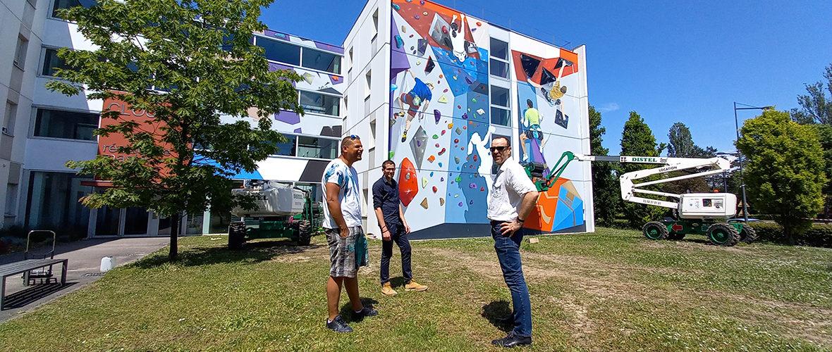 Un mur d'escalade sur le campus… ou presque! | M+ Mulhouse