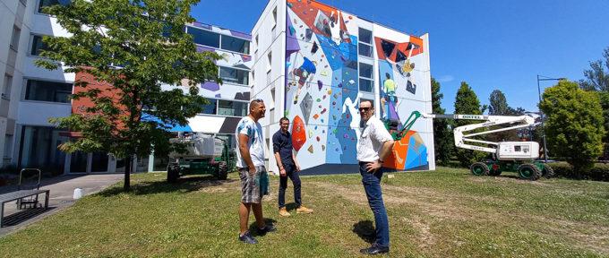 Un mur d'escalade sur le campus… ou presque!
