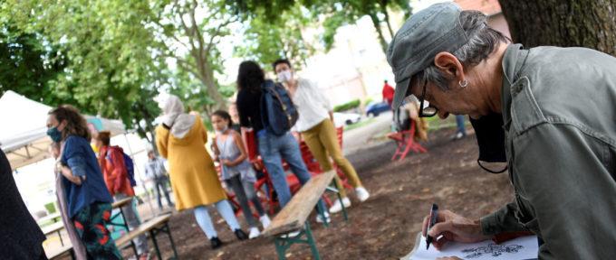 Drouot : un chantier participatif et des illustrateurs pour dessiner le futur de la place Hauger
