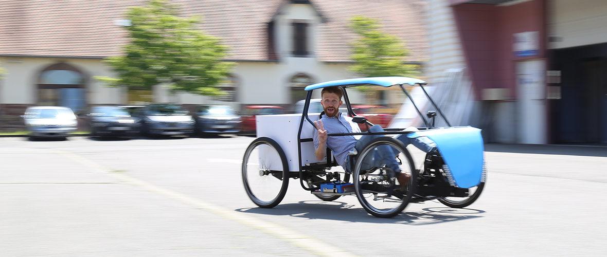 Ecos, un vélo-voiture mulhousien pour se déplacer autrement | M+ Mulhouse