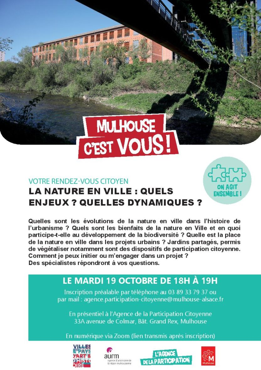 Mon rendez- vous citoyen : La nature en ville : Quels enjeux ? Quelles dynamiques ?
